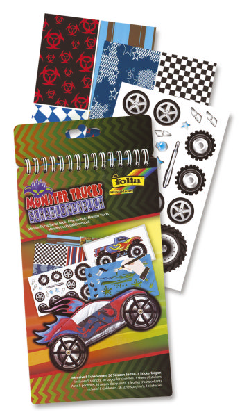 FOLIA Schablonenbuch Monster Trucks