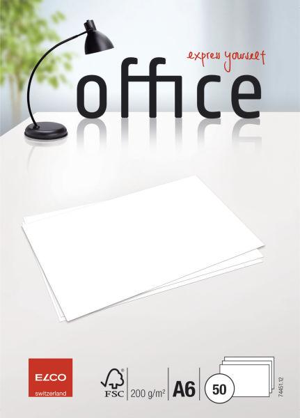 ELCO Briefkarte Office A6 weiß