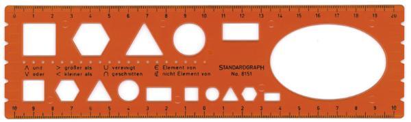 STANDARDGRAPH Schablone Mengenlehre