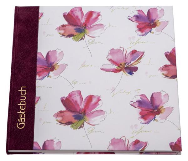 GAPYRUS Gästebuch Blume Aquarell