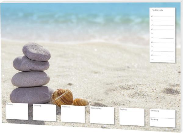 RNK Schreibunterlage Steine am Strand