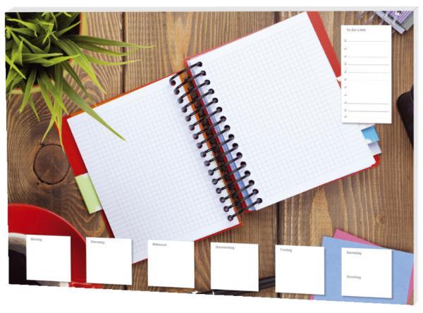 Schreibunterlage Notizbuch bunt