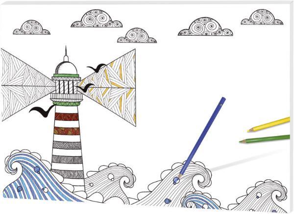 Schreibunterlage  Leuchtturm