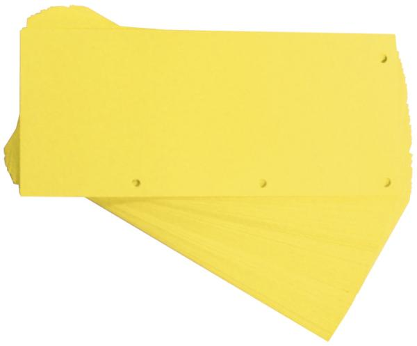ELBA Trennstreifen Duo, aus Karton, 240 x 105 mm, gelb