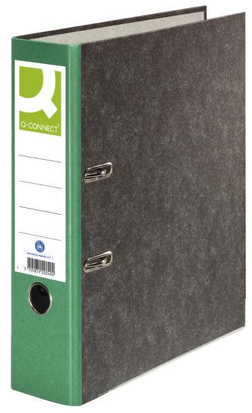 Q-CONNECT Ordner Pappe A4 80mm grün