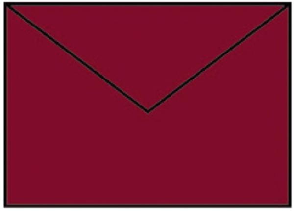 Briefhülle B6 5ST rosso