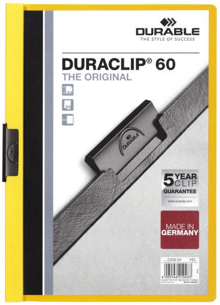 Klemmmappe Duraclip A4 gelb