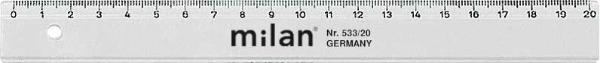 #10xMilan Lineal Kunststoff 20Cm Aus Glasklarem Polystyr...