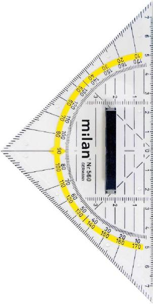 #10xMilan Geometrie-Dreieck 16cm abnehmbarer Griff Milan...