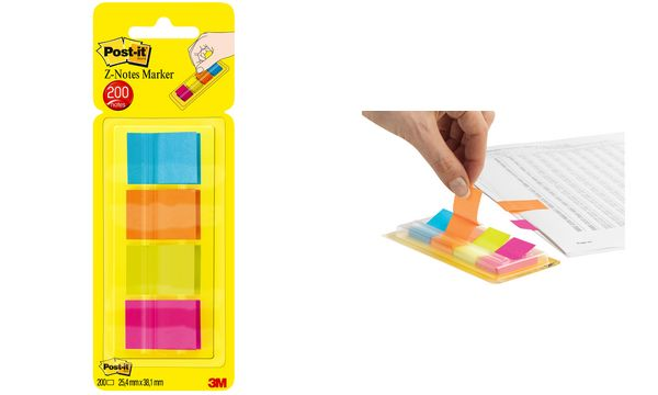 Post-it Pagemarker Z-Notes, 25,4 x 38 mm, farbig sortiert