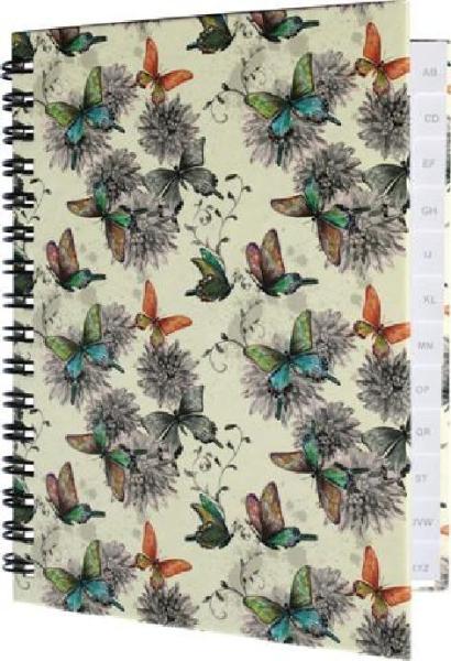 RNK Verlag Notizbuch Butterflies, DIN A6, A-Z Register