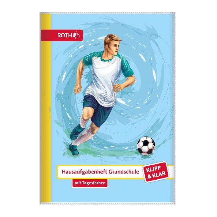 ROTH Grundschul-Hausaufgabenheft Klipp & Klar Fußball