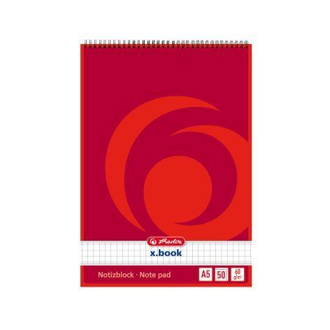 #10xNotiz-Spiralblock A5 40Bl Kariert