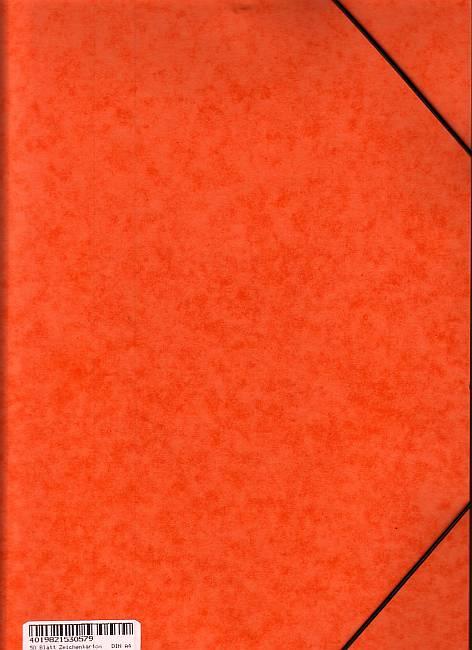 Zeichenkarton A4 150g in Jurismappe 50 Blatt