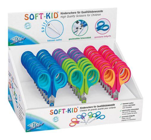 #30xWEDO Bastelschere Soft-Kid, spitz, Länge: 115 mm, Di...