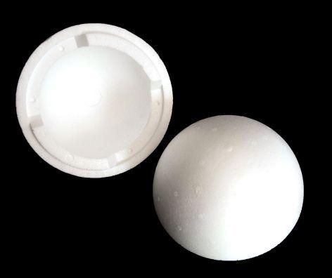 Styroporkugel 15cm weiß teilbar