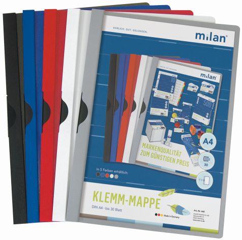Klemm-Mappe A4 Milan rot