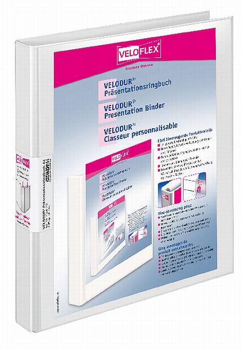 Präsentationsringbuch 16mm A4 2Ring weiss Velodour