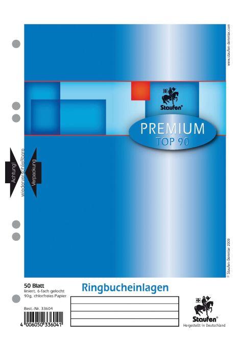 Ringbuch-Einlage A5 50Bl liniert Premium