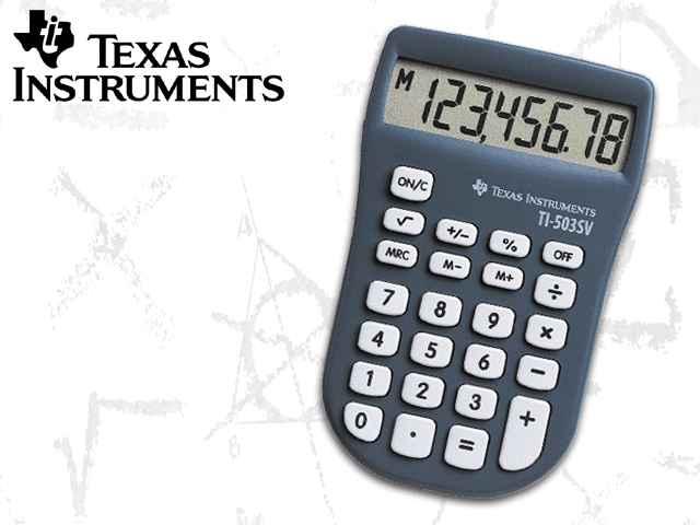 TEXAS INSTURMENTS Taschenrechner TI-503 SV, Batteriebetrieb