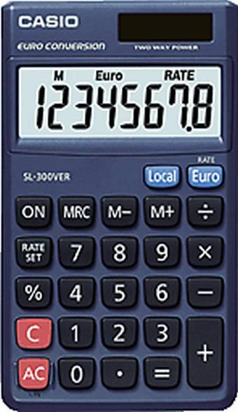 CASIO Taschenrechner SL-300 VER, Solar-/ Batteriebetrieb