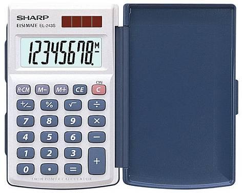 SHARP Taschenrechner EL-243 S, Solar-/ Batteriebetrieb