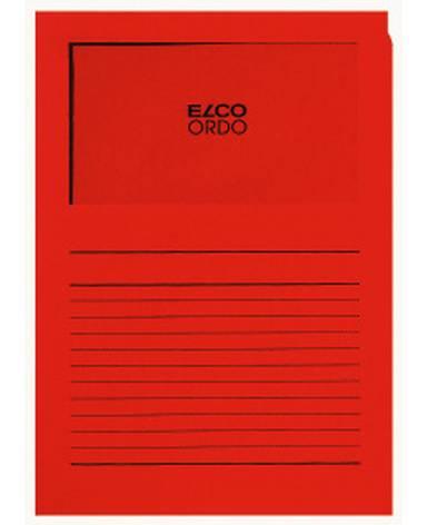 Projektmappe Elco Ordo Classico A4 120g intensiv rot Lin...