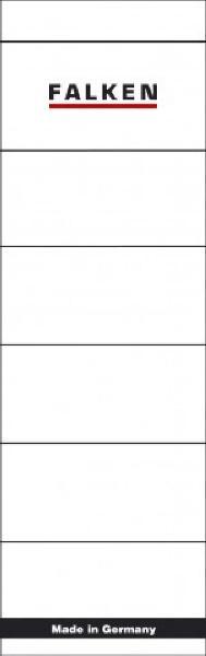 FALKEN Ordnerrücken-Etikett, 60 x 190 mm, kurz/breit, weiß