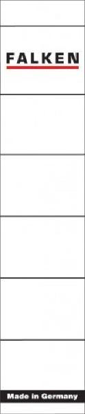 FALKEN Ordnerrücken-Etikett, 36 x 190 mm, kurz/schmal, weiß