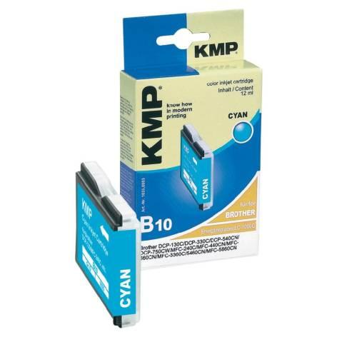 Tintenpatrone KMP B10 cyan für Brother LC-1000C / LC-51C