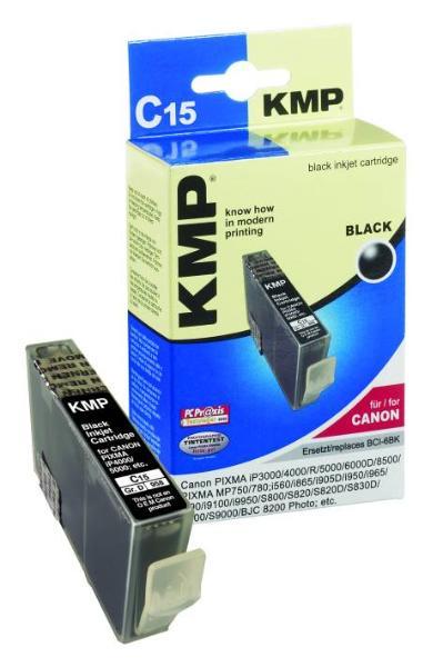 Tintenpatrone KMP C15 schwarz für Canon BCI-6BK