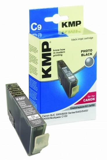 Tintenpatrone KMP C9 light schwarz f.Canon BCI-3ePBK