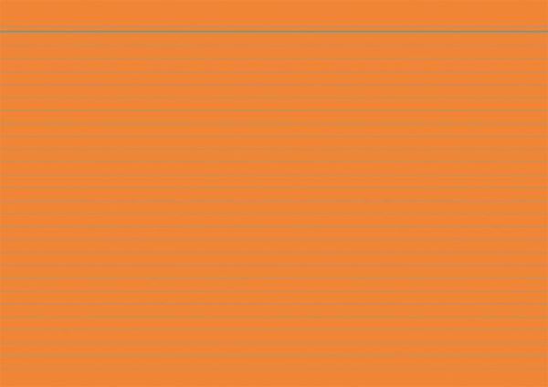 Kartei-Karte A7 100St Orange Liniert 115076 56714