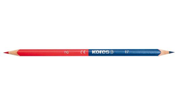 Kores Dreikant-Lehrerbuntstift TWIN, blau / rot