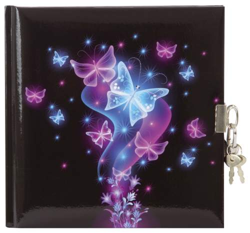 Goldbuch Tagebuch mit Schloss 96 Seiten Schmetterling