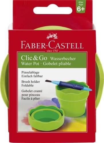 FABER-CASTELL Wasserbecher CLIC & GO, hellgrün