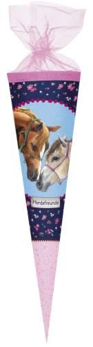 Schultüte 35cm Pferdefreunde