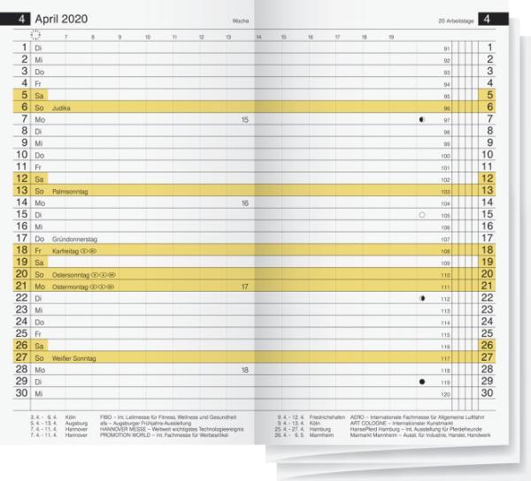 rido idé Kalender-Einlage Miniplaner d12, 2020