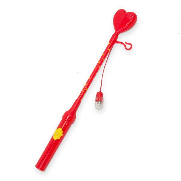 Laternenstab elektrisch 34cm Herz rot