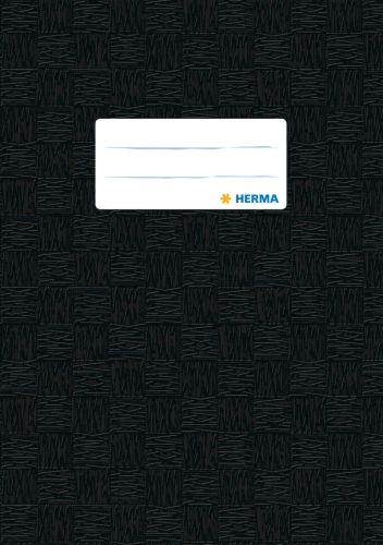 HERMA Heftschoner, DIN A4, aus PP, schwarz gedeckt
