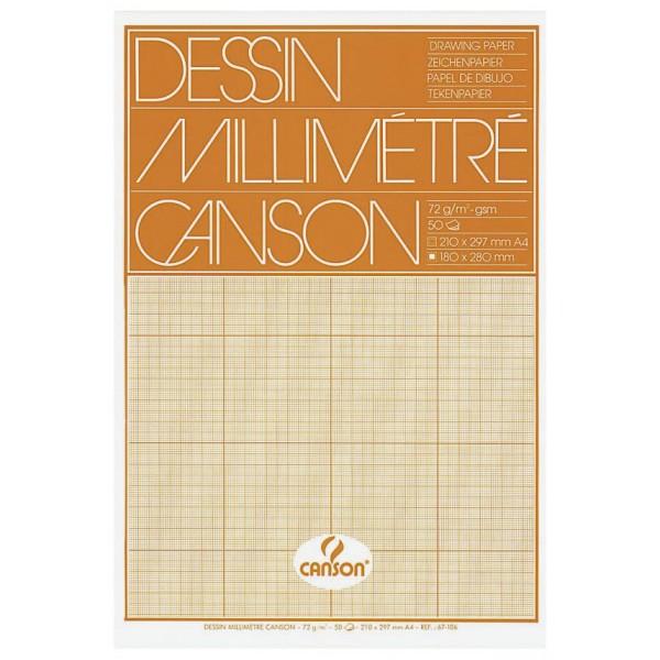 CANSON Millimeterpapier-Block, DIN A4, 80 g/qm