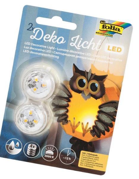 folia LED-Deko-Licht inkl. Batterien elektrisches Teelic...