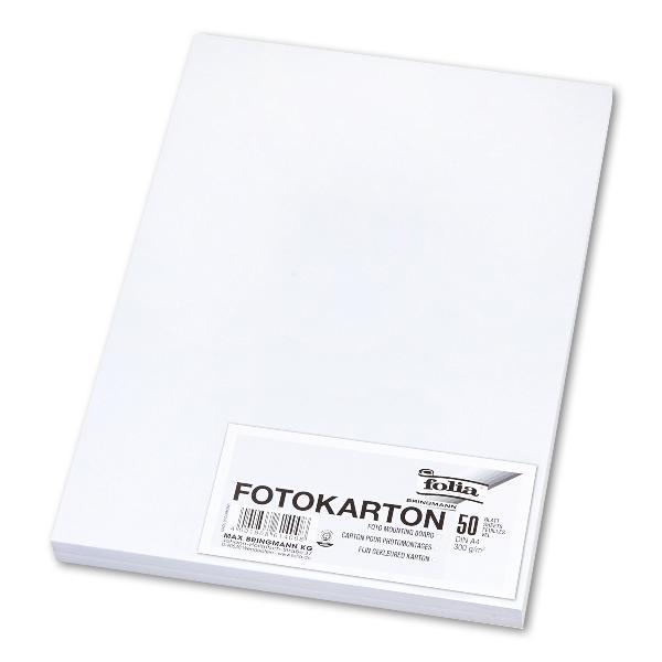 Fotokarton - A4, 300 g/qm, weiß, 50 Blatt
