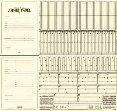 RNK Verlag Ahnentafel Meine Vorfahren, DIN A2