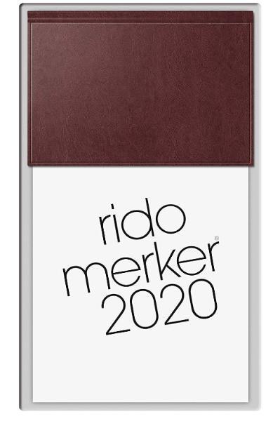 rido merker Tischkalender 1T 1S dunkelrot 2020