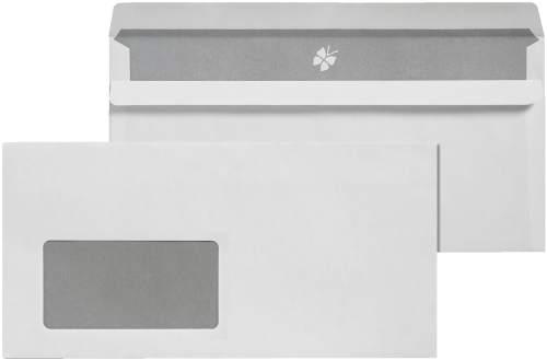 DIN Lang Briefumschlag mit Fenster 72g weiß selbstkleben...