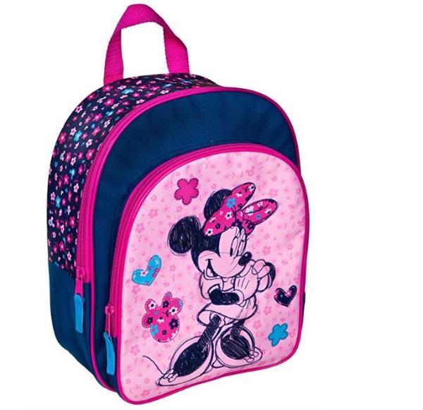 Rucksack mit Vortasche Polyester Minnie Mouse 30x26x10cm