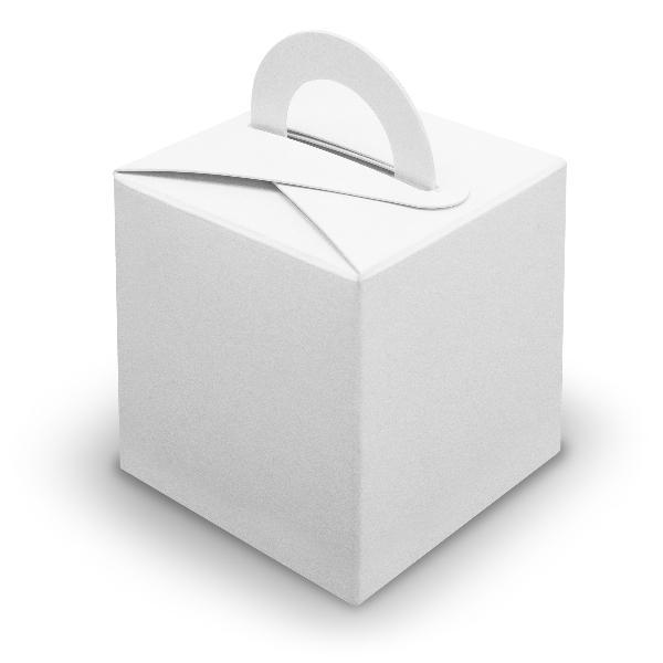 10x itenga Würfelbox mit Griff weiß