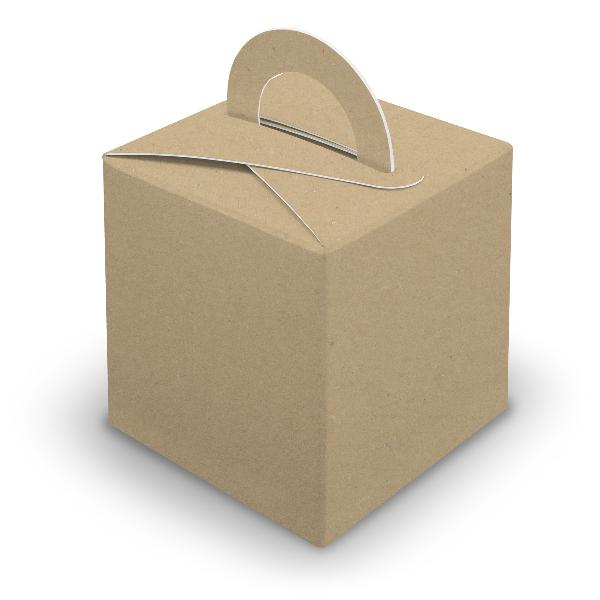25x itenga Würfelbox mit Griff braun