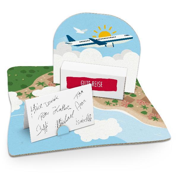 itenga Geldgeschenkverpackung Flugzeug (Motiv 47) mit Bo...